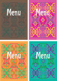 Mexican cover design. Traditional mexican menu cover design Stock Photo
