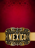 Mexican cowboy belt buckle design - poster - card template Royalty Free Stock Photo