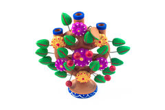 Mexican craft tree of life. Detail of mexican craft tree of life Stock Photo
