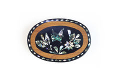 Mexican crafts small jewelry box Royalty Free Stock Images