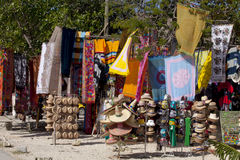 Mexican crafts in a tourist gift shop . Royalty Free Stock Images