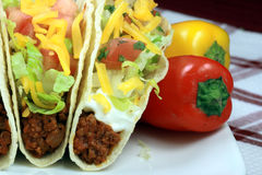 Mexican crunchy taco Royalty Free Stock Photo