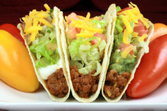 Mexican crunchy taco royalty free stock photography