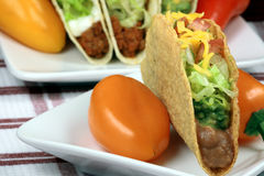 Mexican crunchy taco Royalty Free Stock Images