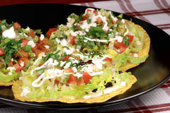 Mexican crunchy tostadas Royalty Free Stock Image