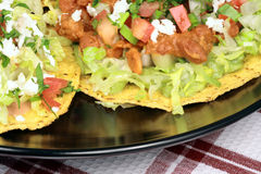 Mexican crunchy tostadas royalty free stock images