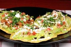 Mexican crunchy tostadas Royalty Free Stock Photo