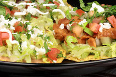 Mexican crunchy tostadas Stock Image