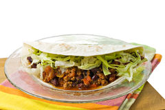 Mexican Cuisine. Wrap sandwich with beef chili Royalty Free Stock Photography