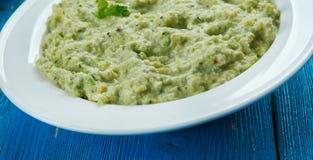 Mexican Avocado Salsa Verde Stock Photos