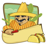 Mexican cuisine banner Stock Image