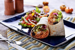 Mexican cuisine burritos prawn queiro Royalty Free Stock Images