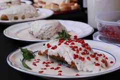 Mexican Cuisine Chile en Nogada. The chile en nogada is one of the typical dishes of the gastronomy of the state of Puebla. It has been called the `poblano stock photography