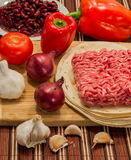 Mexican cuisine ingredients. Ingredients that are used in mexican cuisine for burrito Stock Photo
