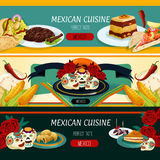 Mexican cuisine menu banners with authentic food Stock Photo