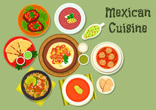 Mexican cuisine restaurant dinner icon Stock Photos
