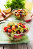 Salad from kidney bean, corn and avocado Royalty Free Stock Photography
