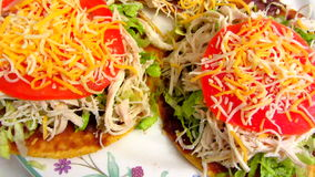 Mexican Cuisine Tostadas stock video