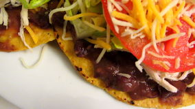 Mexican Cuisine Tostadas-Close-up stock video footage
