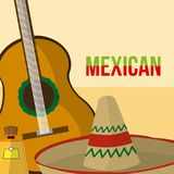 Mexican culture cartoons. Vector illustration graphic design Stock Photo