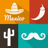 Mexican culture design. Mexican concept with culture icons design, vector illustration 10 eps graphic stock illustration