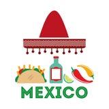 Mexican culture design Royalty Free Stock Photos
