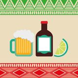 Mexican culture design Royalty Free Stock Photo