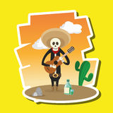 Mexican culture design, vector illustration. mexico icons Royalty Free Stock Images