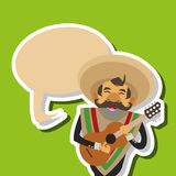 Mexican culture design, vector illustration. mexico icons Stock Photography