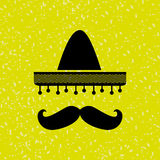 Mexican culture icon design Royalty Free Stock Image