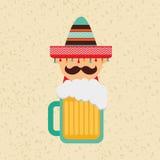 Mexican culture icon design Stock Photos