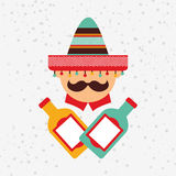 Mexican culture icon design Royalty Free Stock Photo
