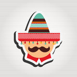 Mexican culture icon design. Illustration eps10 graphic Stock Photo