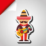 Mexican culture icon design Stock Images