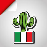 Mexican culture icon design Royalty Free Stock Images