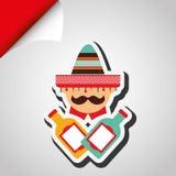 Mexican culture icon design. Illustration eps10 graphic Stock Image