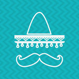 Mexican culture icon design Royalty Free Stock Photography