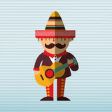 Mexican culture icon design. Illustration eps10 graphic Royalty Free Stock Photos