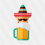Mexican culture icon design Stock Photography