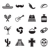 Mexican Culture Icons Stock Photography