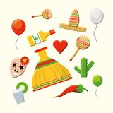Mexican culture design. Mexican culture related icons over white background, colorful design vector illustration Royalty Free Stock Image