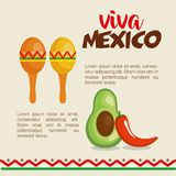 Mexican culture set icons. Vector illustration design Royalty Free Stock Photos