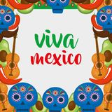 Mexican culture set icons. Vector illustration design Royalty Free Stock Photo