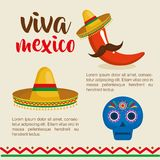 Mexican culture set icons. Vector illustration design Royalty Free Stock Images