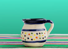 Mexican Cup for Coffee and Hot Drinks. Traditional cup for coffee and hot drinks, like hot chocolate, Oaxaca chocolate, tea, etc, with Mexican decoration on a Royalty Free Stock Image