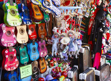 Mexican Curious shop. A Mexican Curious shop at Olvera Street, Los Angeles, CA Royalty Free Stock Photos