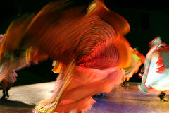 Mexican dance group. Mexican dancer at dance festival in holland. blurred motion Royalty Free Stock Photos