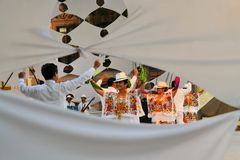Mexican dance group on stage at Festival Cultural Royalty Free Stock Photography