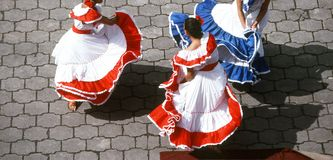 Mexican Dancers. Performing Royalty Free Stock Photo