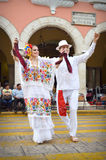 Mexican dancers couple Stock Images